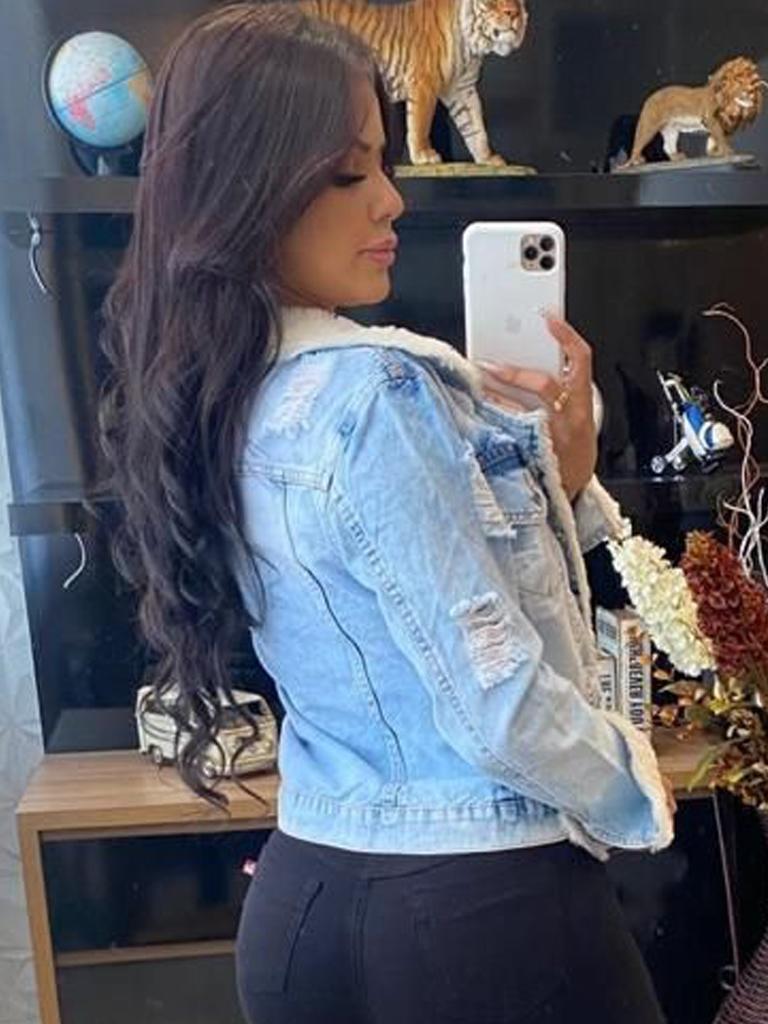 Jaqueta Jeans Detalhes Apeluciados CCJ 9000