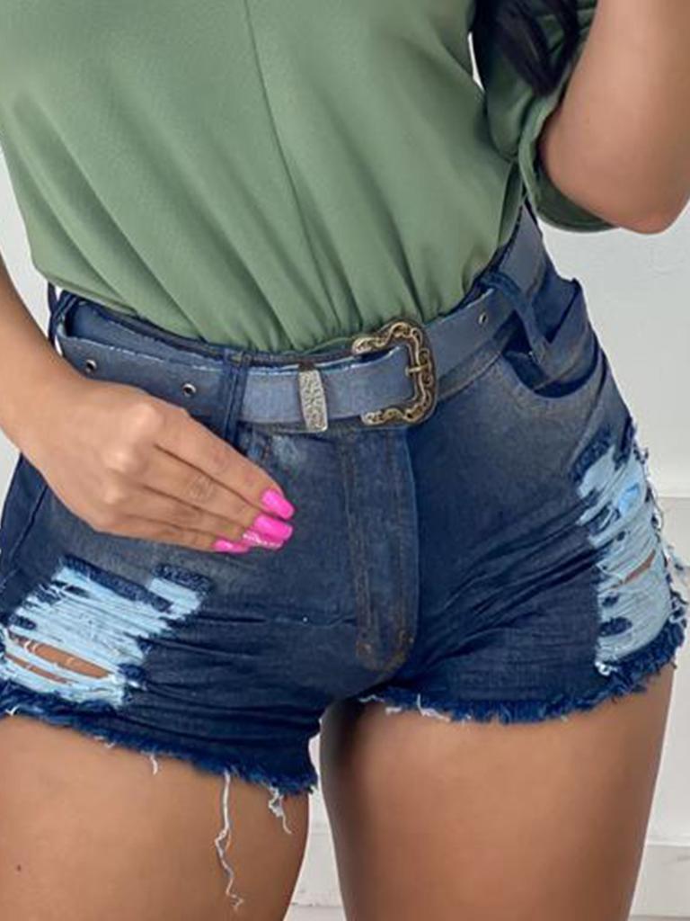 Shorts Jeans Glitter Com Cinto MND 03