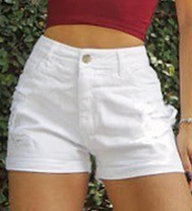 Shorts Jeans White CCJ 392