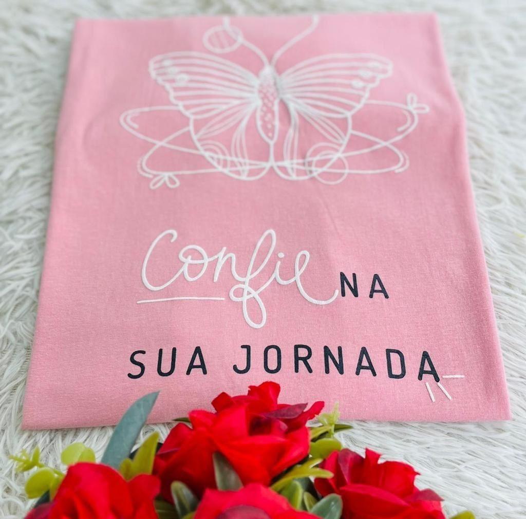 T-Shirt Confie na sua Jornada WGR 45 - Rosa