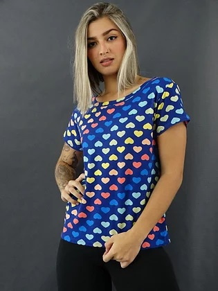 T-Shirt Corações GBB 267