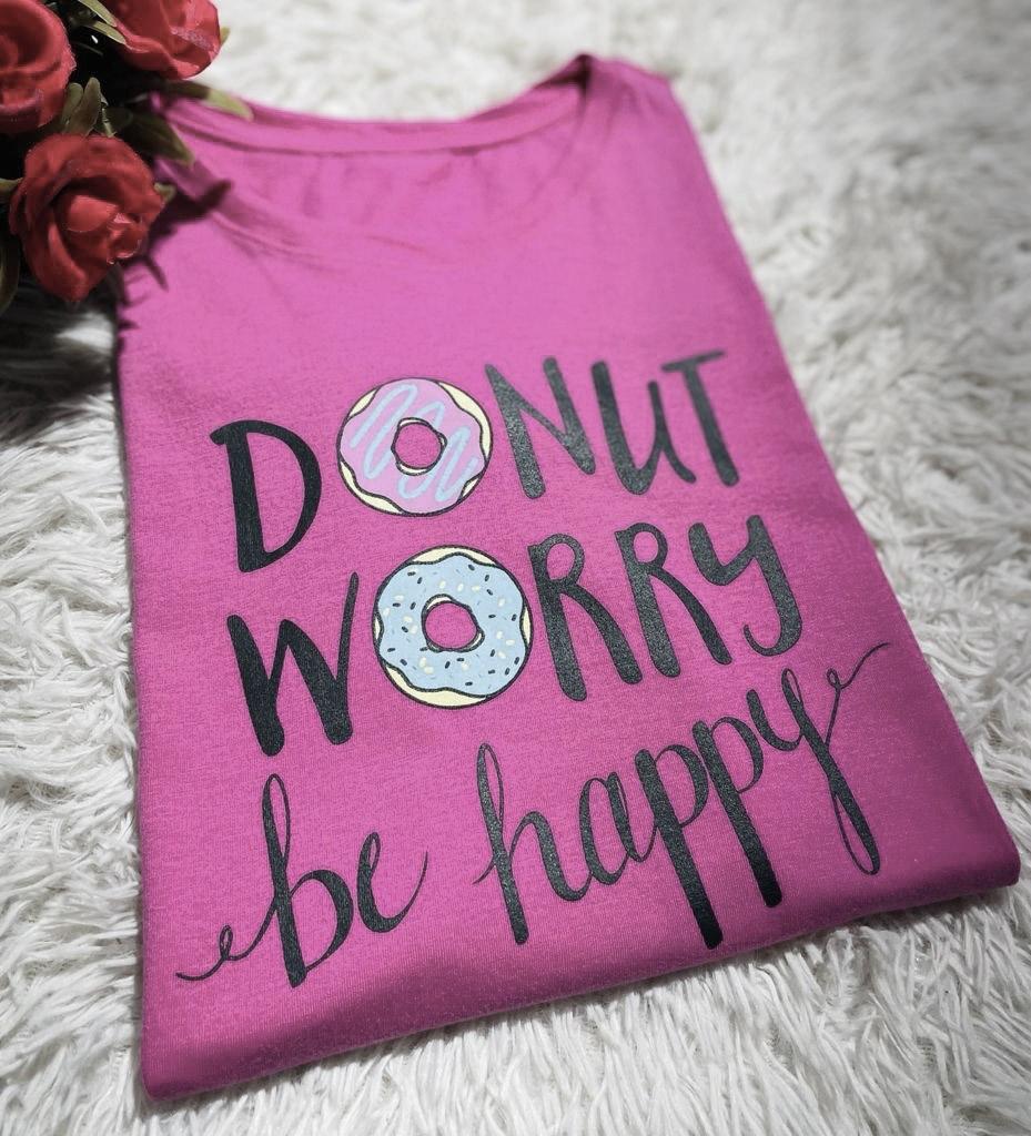 T-Shirt Dont Worry WGR 42 - Fúcsia