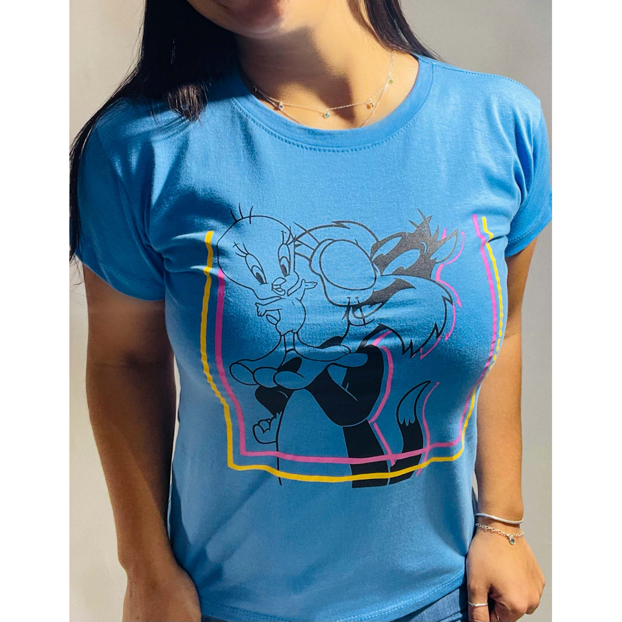 T-Shirt Frajola PiuPiu WGR 22 - Azul