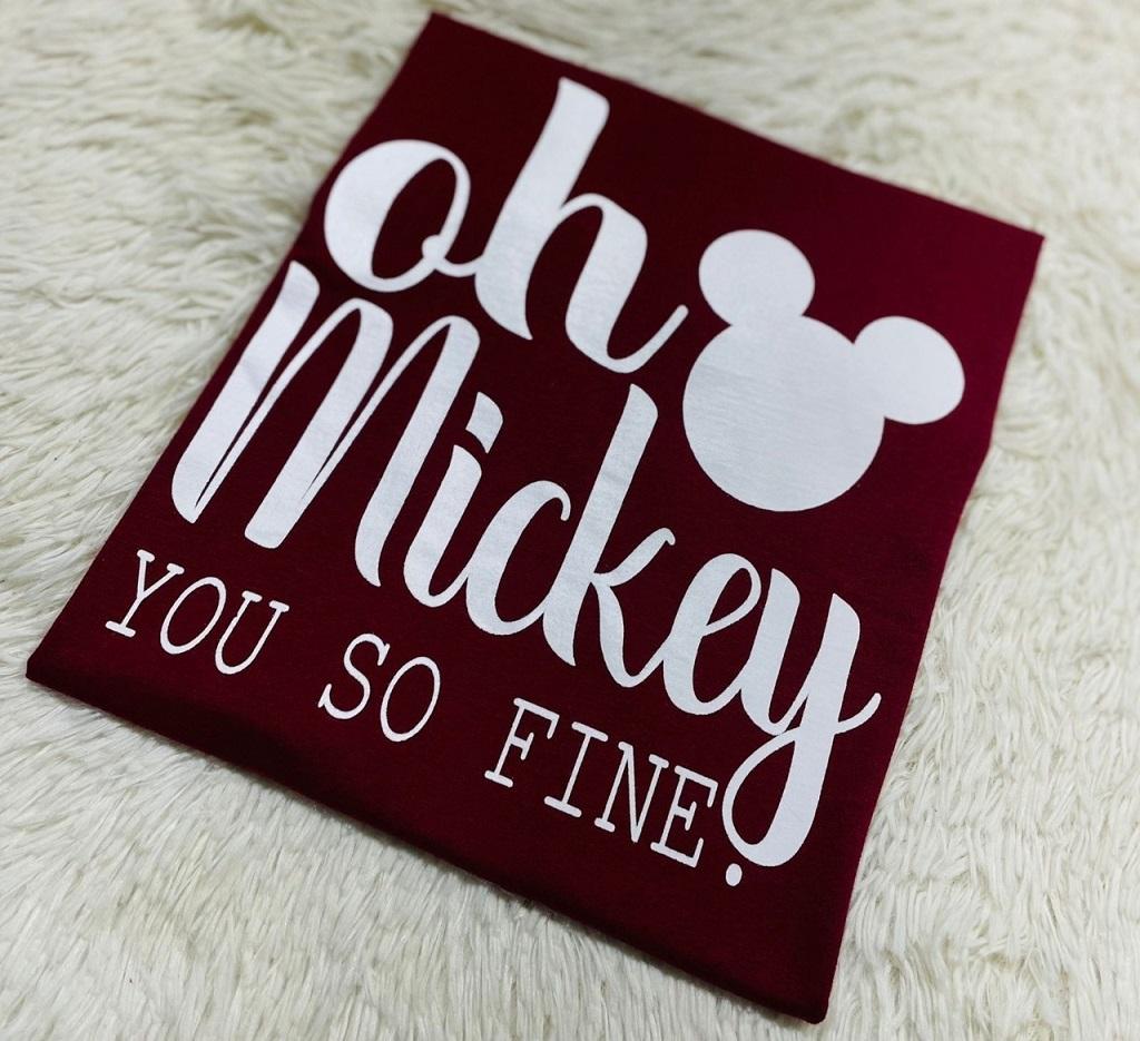 T-Shirt Oh Mickey WGR 01 - Marsala