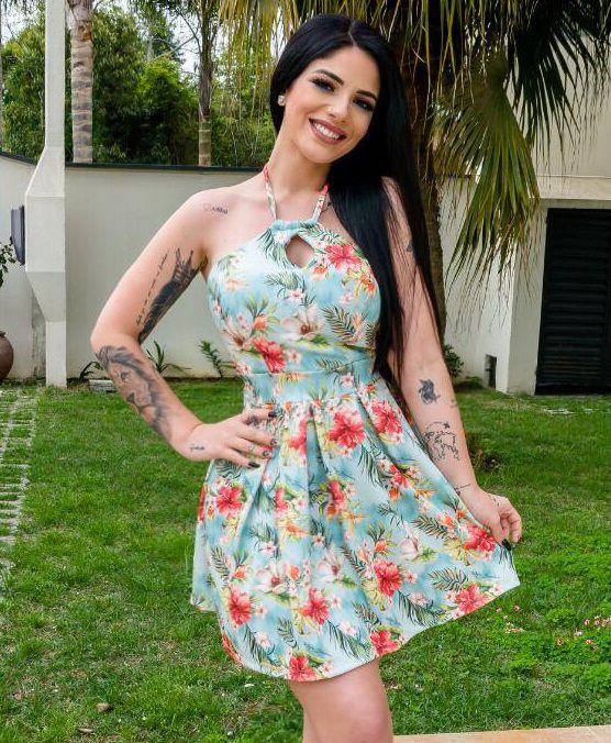 Vestido Alça Amarração MBL 201