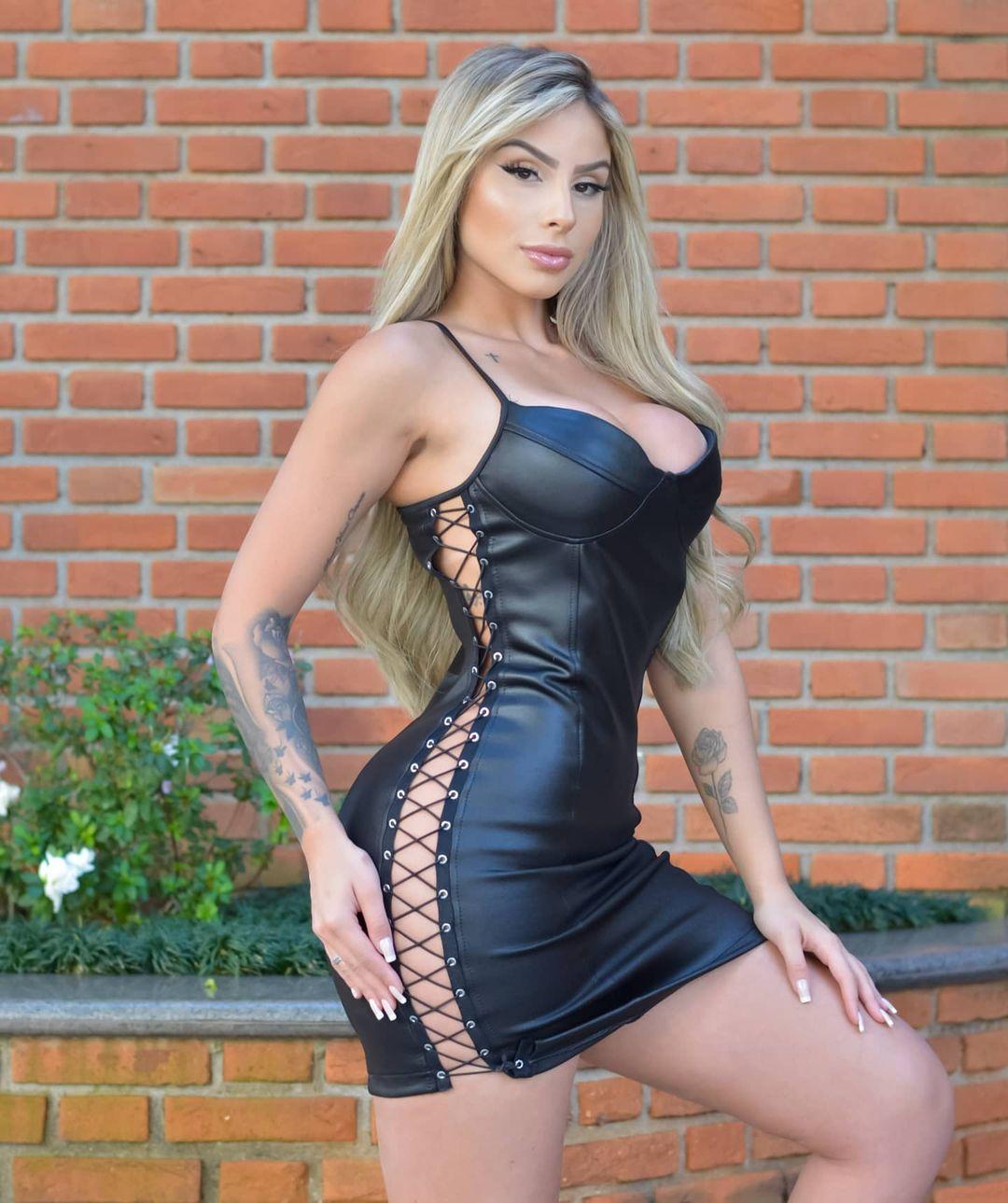 Vestido Cirrê DMY 365 - Preto