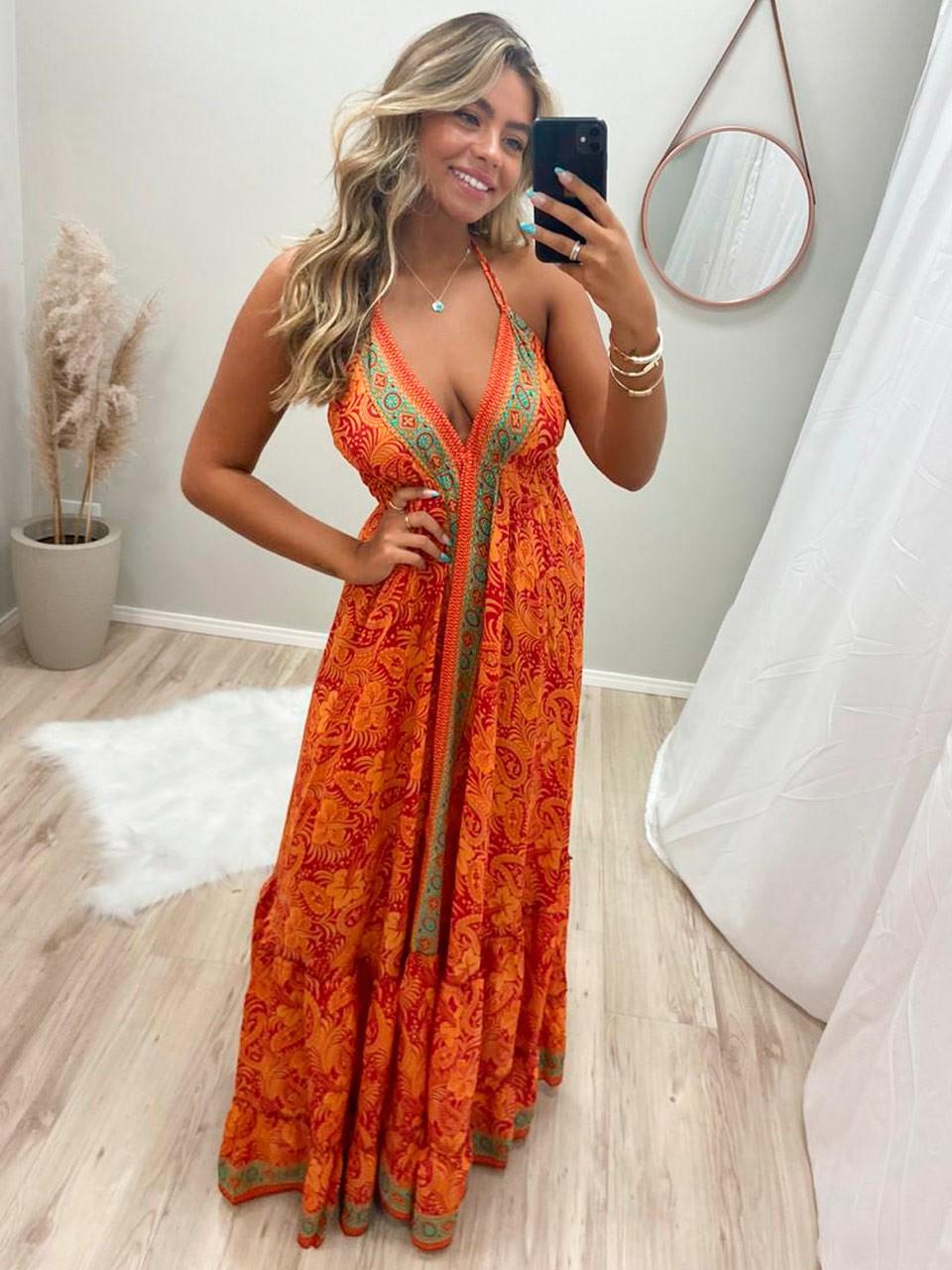 Vestido Indian Barrado VIN 45
