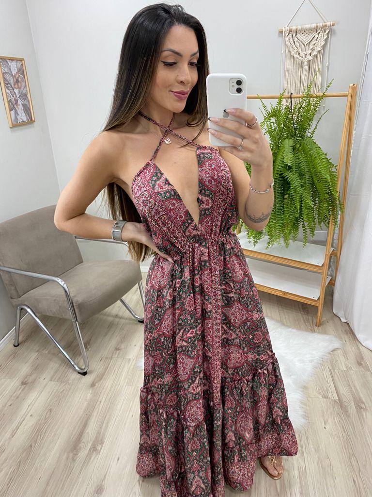 Vestido Indian Barrado VIN 66