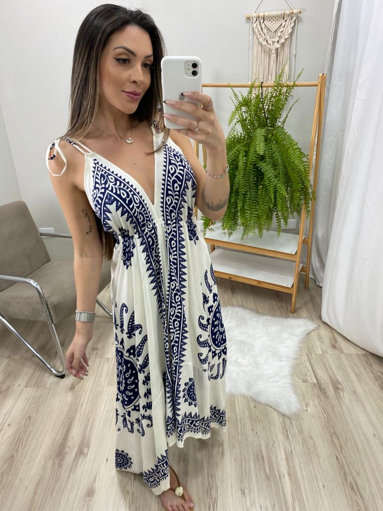 Vestido Indian Lenço VIN 72 Branco