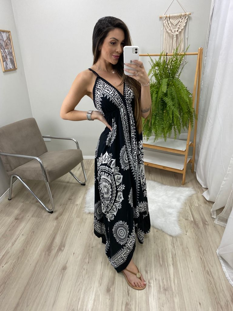 Vestido Indian Lenço VIN 72 - Preto