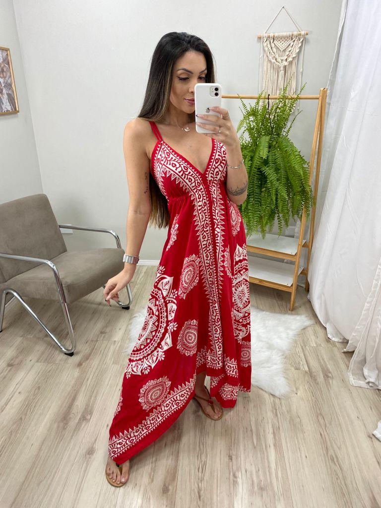 Vestido Indian Lenço VIN 72 - Vermelho