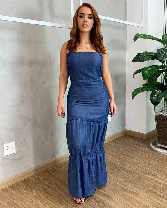 Vestido Longo Consciência Jeans CNS 20072