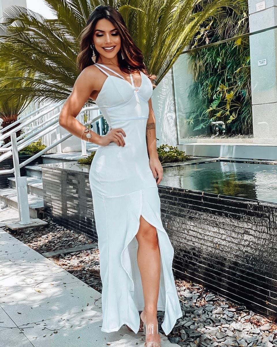 Vestido Lurex Fenda MRS 01