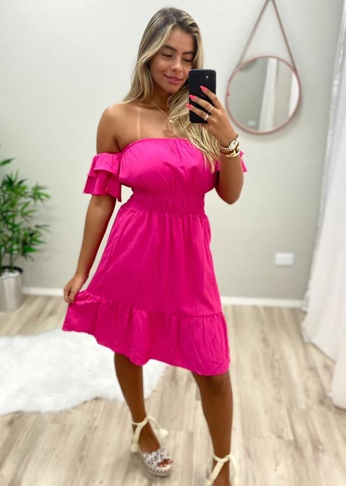 Vestido Ombro Elastex JAN 180 Pink