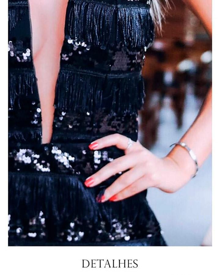 Vestido Paetê e Franjas MRS 24