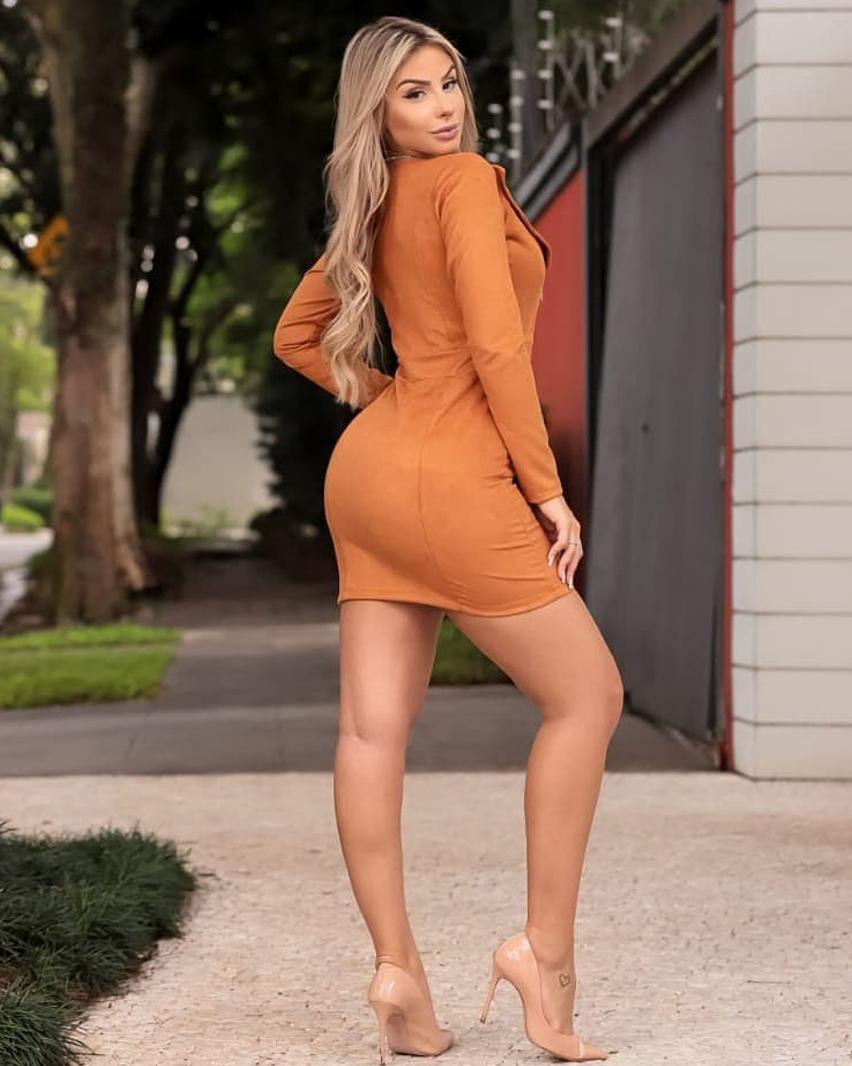 Vestido Suede Becky DMY 338 Caramelo