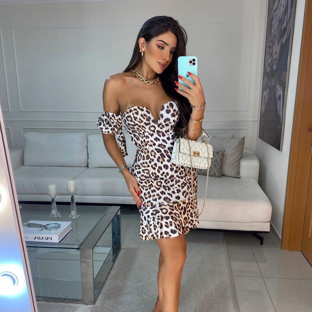 Vestido Tomara q Caia Leopard JMD 15