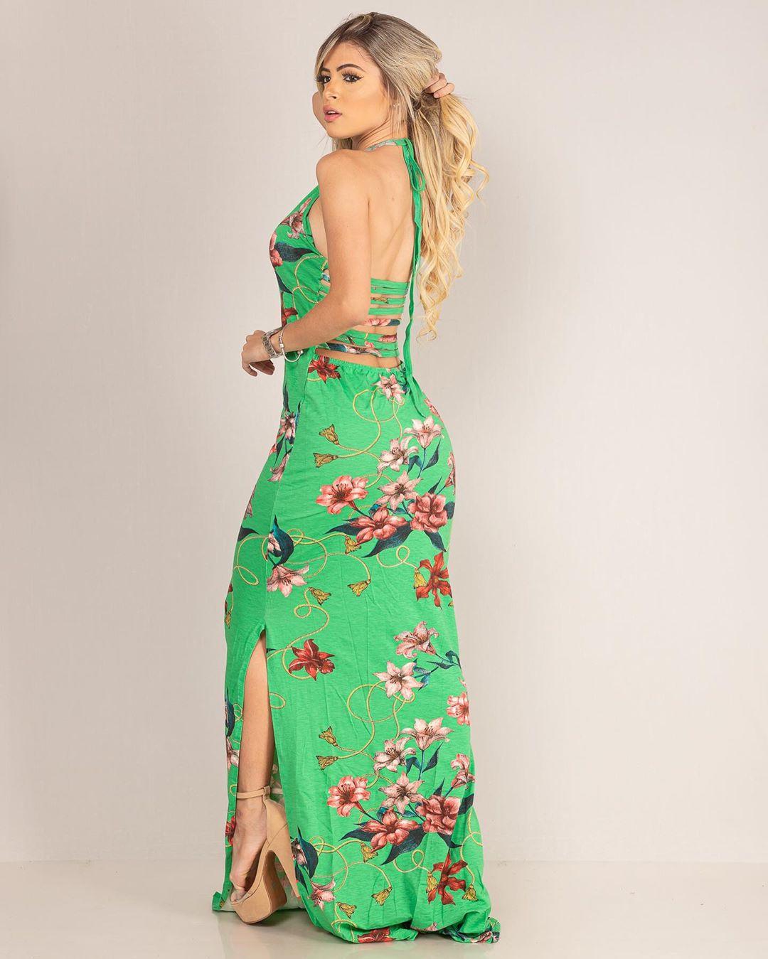 Vestido Viscol Tiras Costas MLL 137