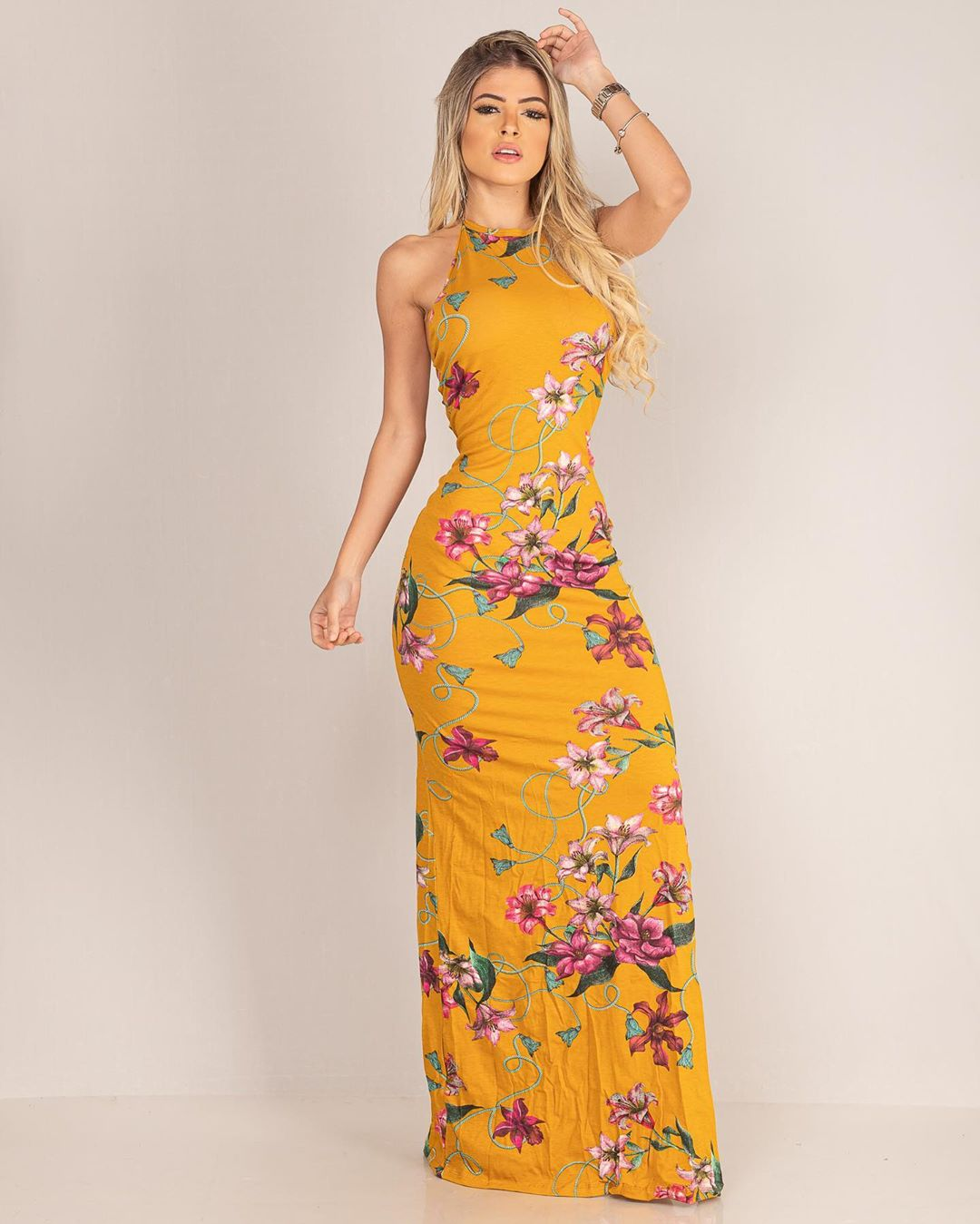 Vestido Viscol Tiras Costas MLL 138