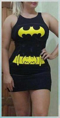 Vestido Viscolycra Batman Ger 141