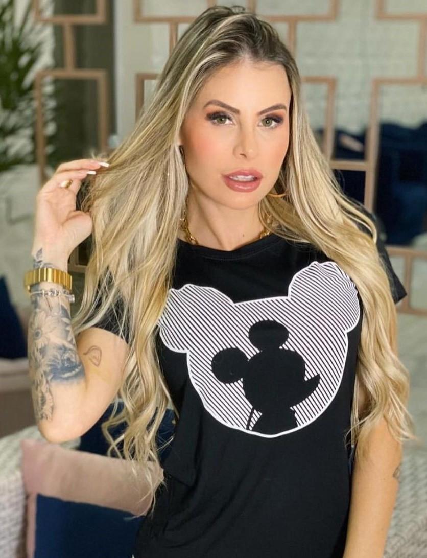 Vestido Viscolycra Mickey Listras GER 355