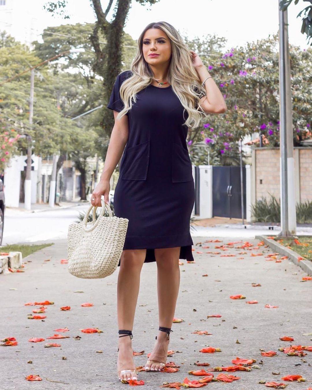 Vestido Viscolycra Mullet MLL 364 - Preto