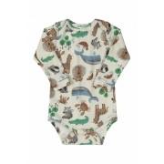 Body Manga Longa Suedine Abstrato Safari Up Baby