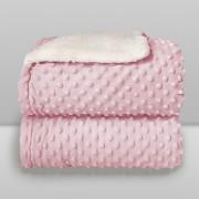 Cobertor Dots Plush Sherpa Rosa