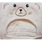 Manta para Bebe com Capuz Urso Fleece Lepper