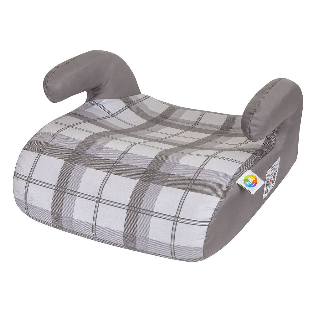 Assento De Elevação Safety Comfort Cinza Xadrez Booster Tutti Baby