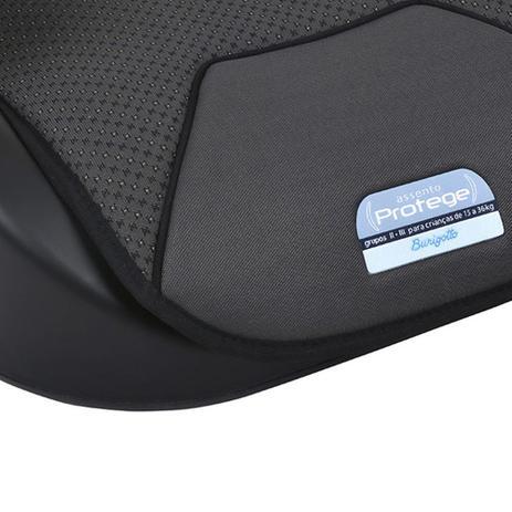 Assento Elevação Booster Protege Mesclado Preto Burigotto