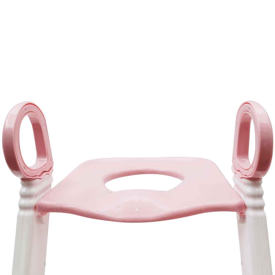 Assento Redutor Com Escada Rosa Buba
