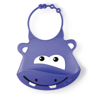 Babador de Silicone Sillybib Hipopotamo Multikids BB040