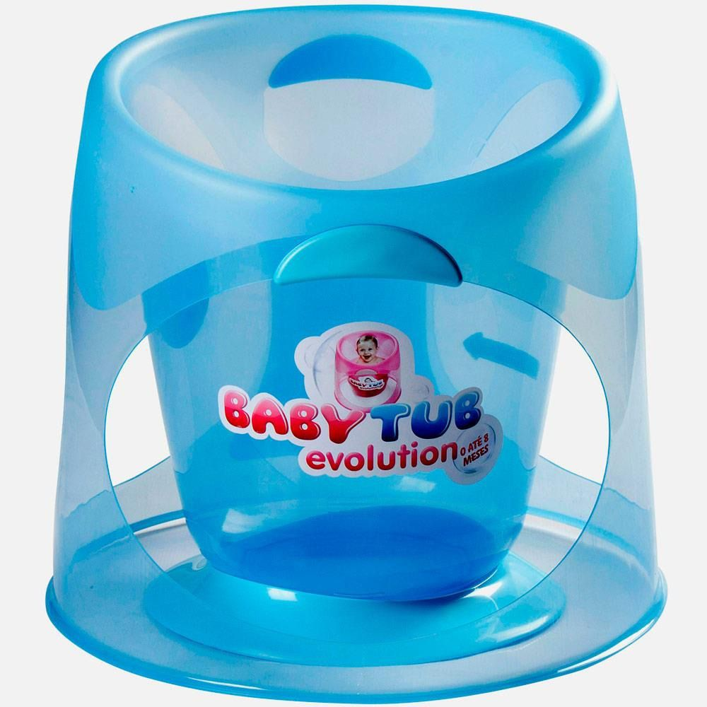 Banheira Babytub Evolution Azul Cristal 0-8 meses