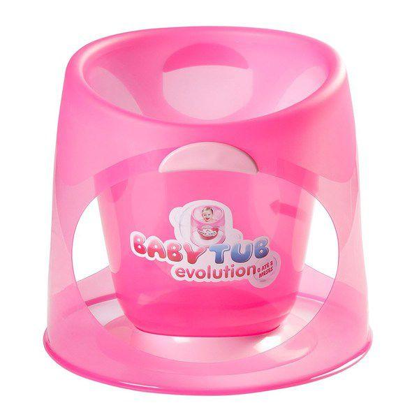 Banheira Babytub Evolution Rosa Cristal 0-8 meses