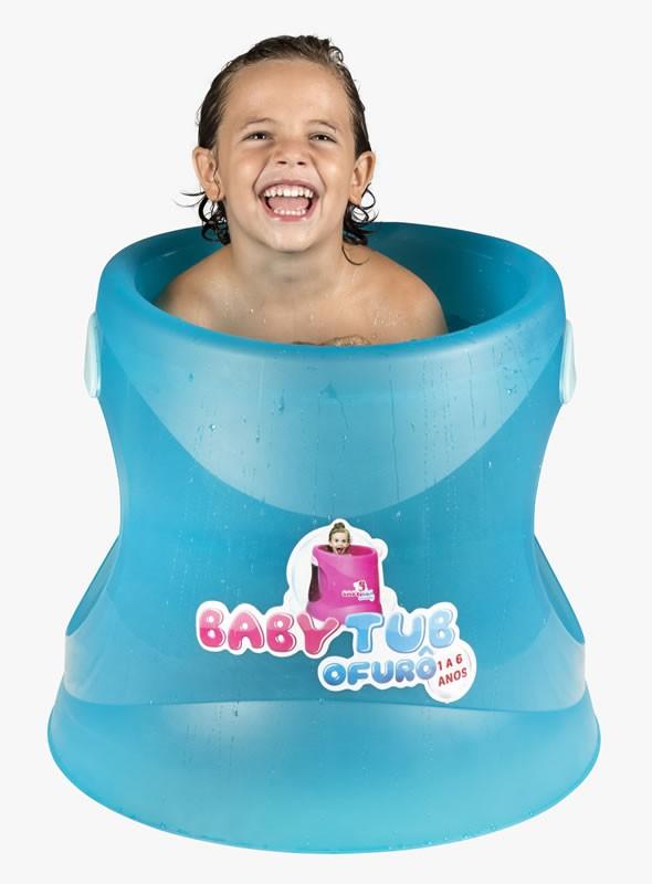 Banheira Babytub Ofurô Azul Cristal 1-6 anos