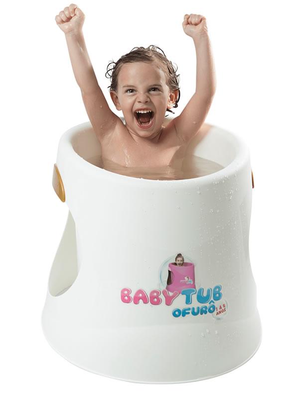 Banheira Babytub Ofurô Branca 1-6 anos