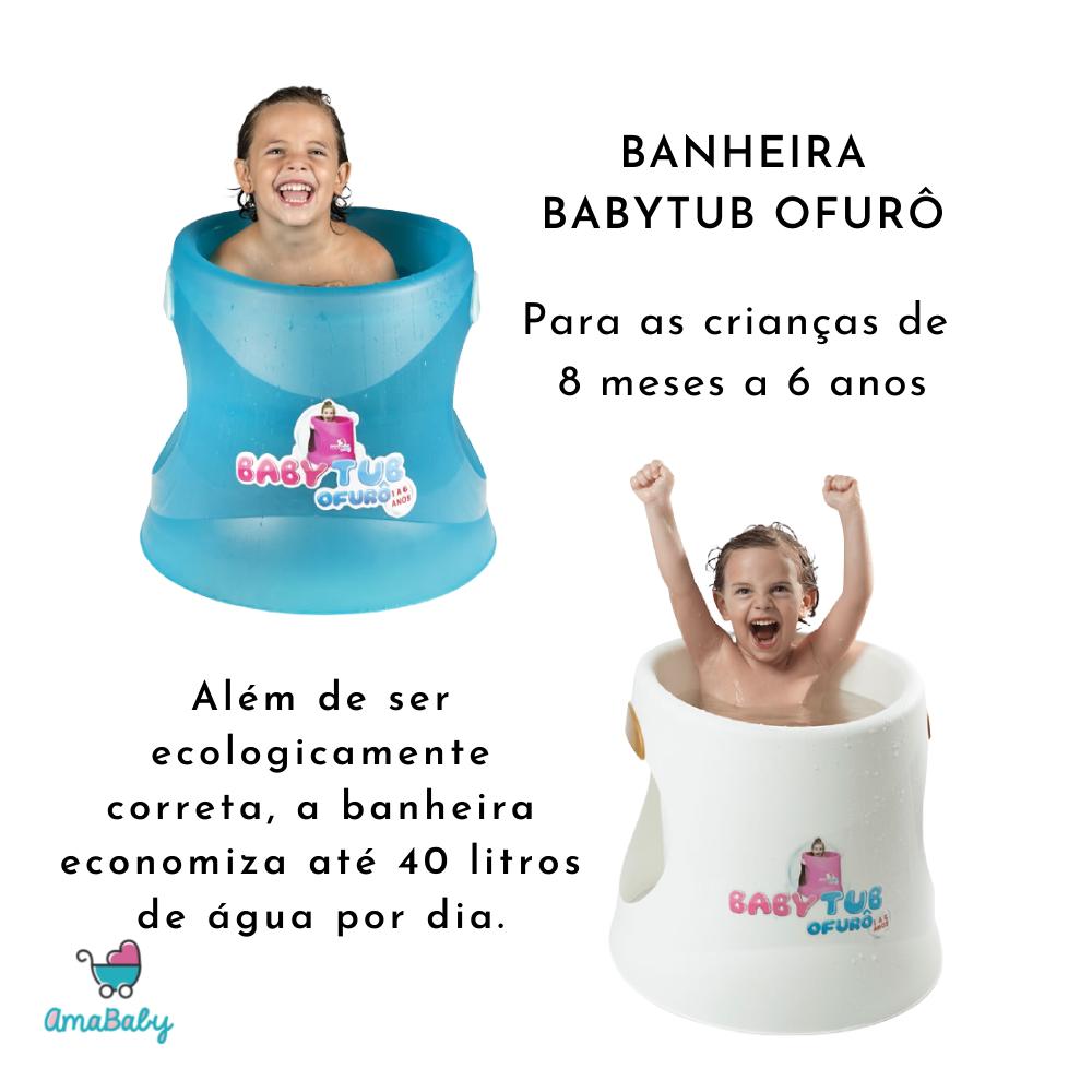Banheira Babytub Ofurô Rosa Cristal 1-6 anos