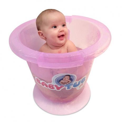 Banheira Babytub Tradicional Rosa 0-6m