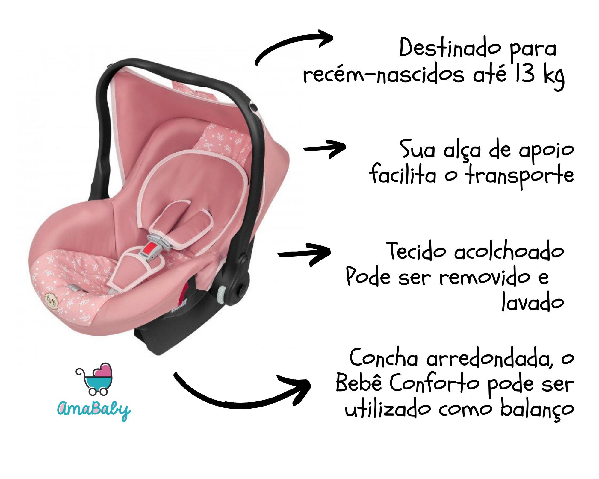 Bebê Conforto Nino Rosa Coroa