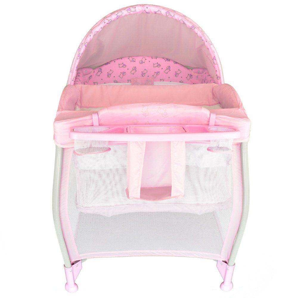 Berço Portátil Aconchego Pink Burigotto