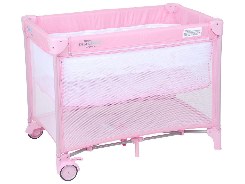 Berço Portátil New Mini Pink Burigotto