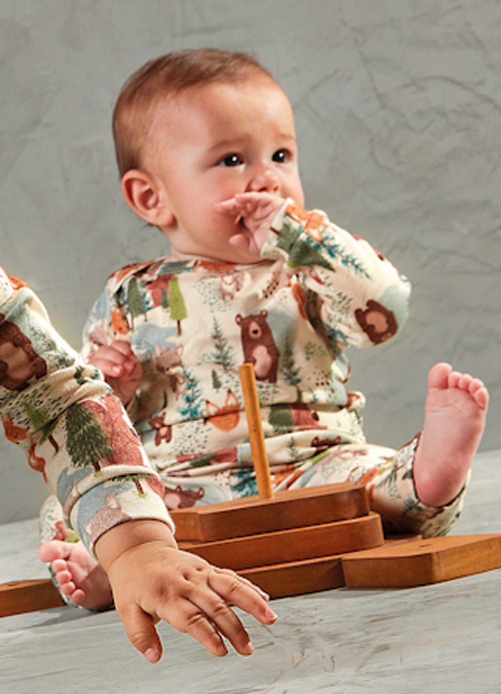 Body Manga Longa Suedine Urso Up Baby