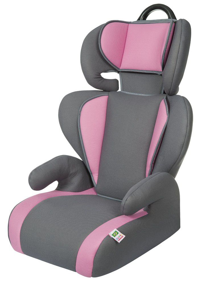 Cadeirinha Carro Safety & Comfort Cinza Rosa Tutti Baby