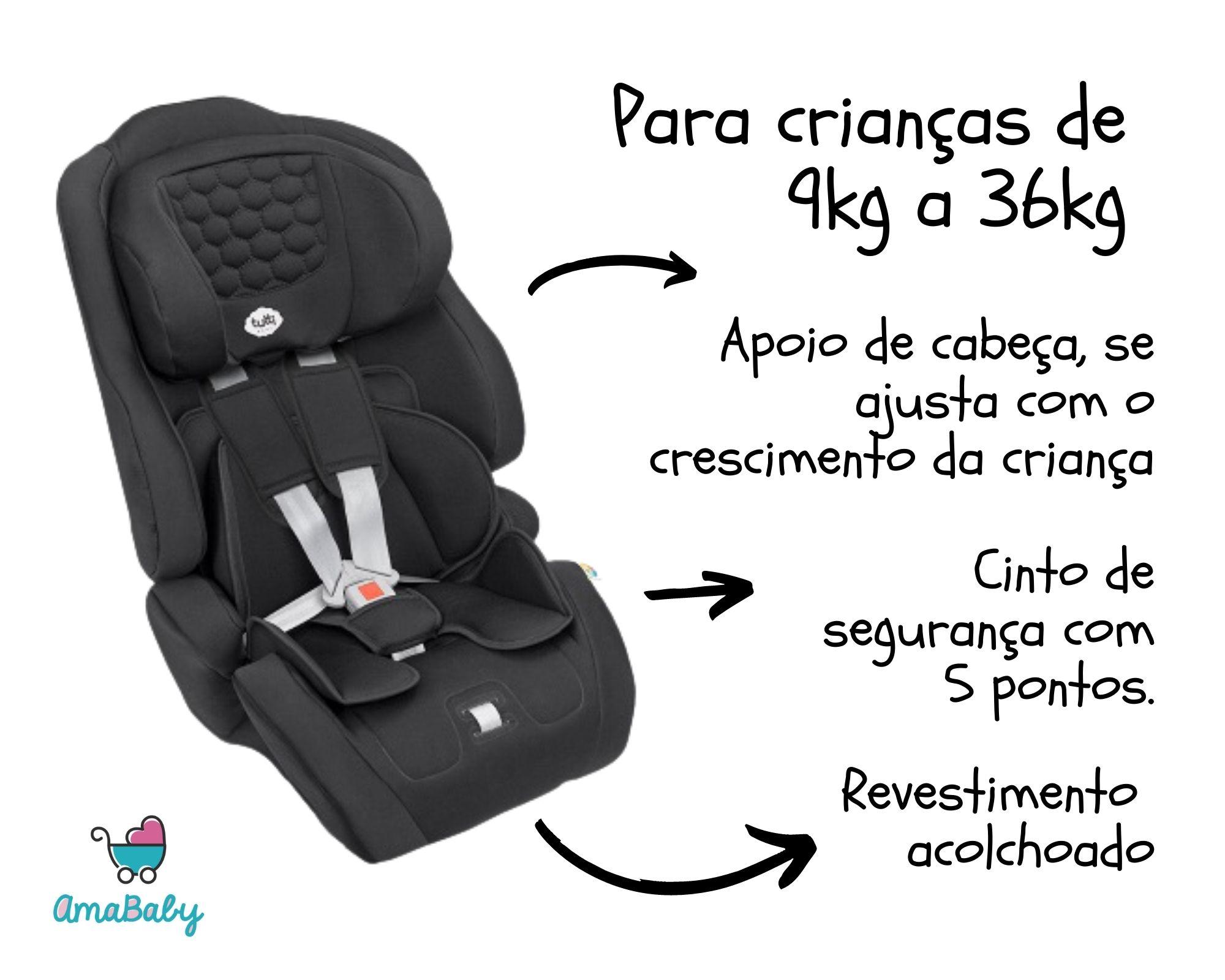 Cadeirinha Carro Ninna Preta 9-36kg Tutti Baby