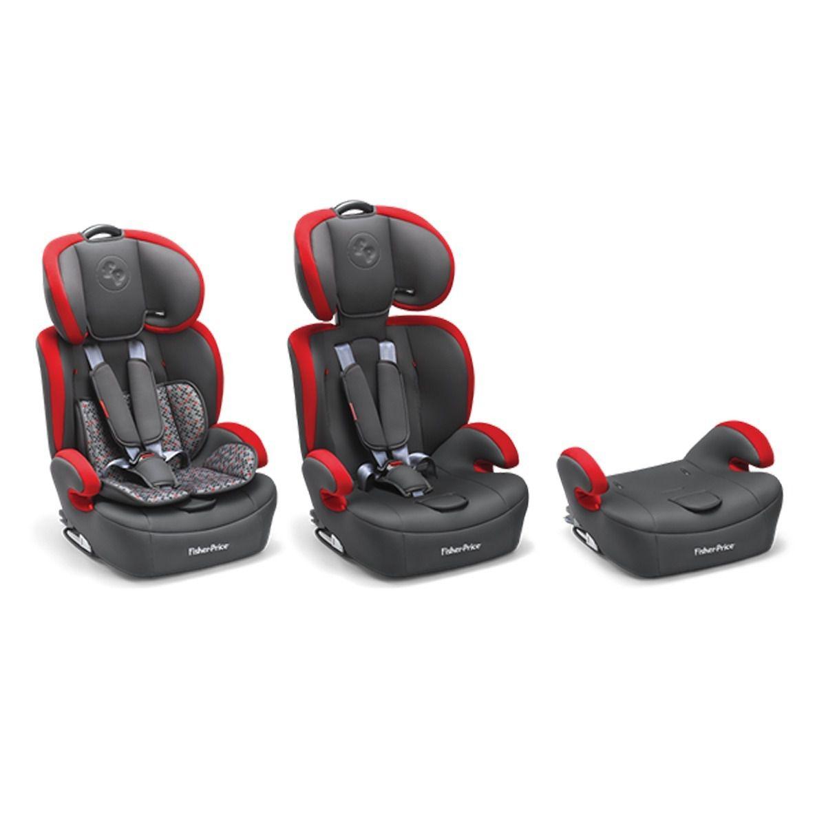 Cadeirinha Carro Safemax Fix Vermelho Fisher Price 9-36 KG (I, II, III)