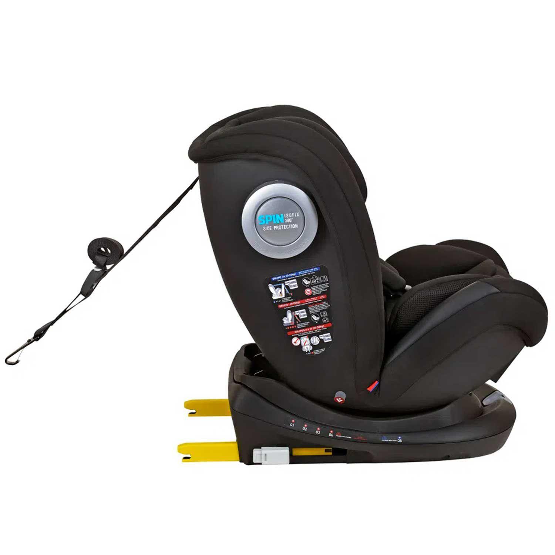 Cadeirinha Carro Spin Isofix 360 9-36 kg Black Burigotto