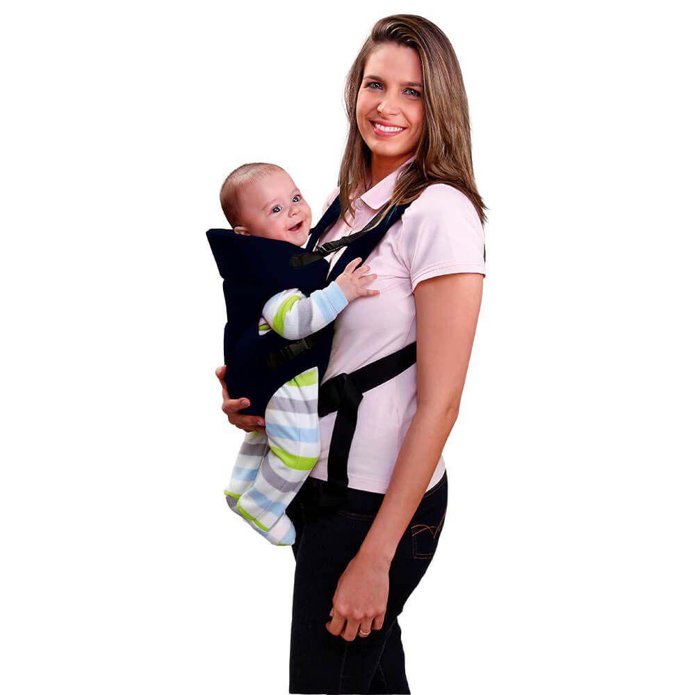 Canguru Para Bebê Baby Safe Preto
