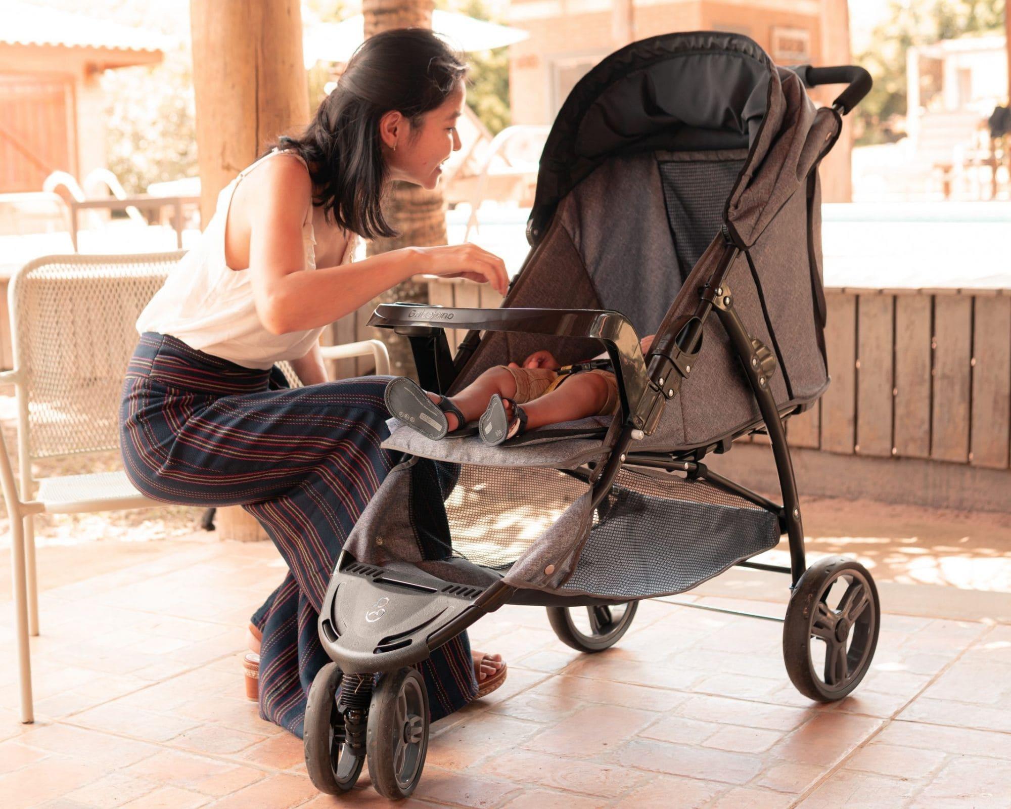 Carrinho De Bebê Cross Trail Preto Galzerano