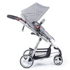Carrinho Bebê Travel System Mobi Grey Denim Silver